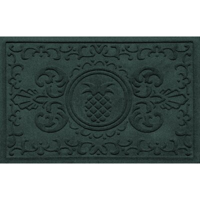 Aqua Shield Baroque Pineapple Doormat Color: Evergreen