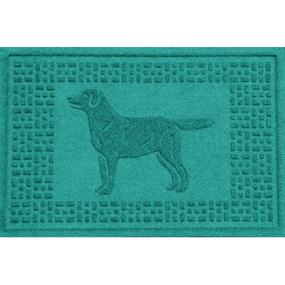 Conway Labrador Retriever Doormat Color: Aquamarine