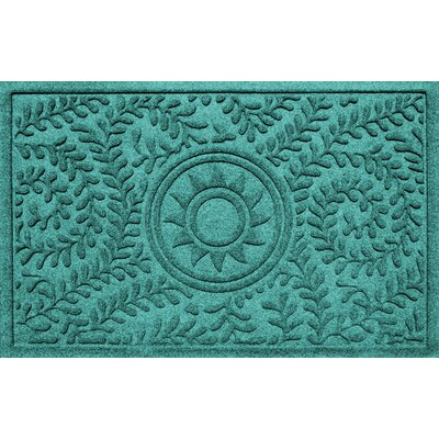 Conway Boxwood Sun Doormat Color: Aquamarine