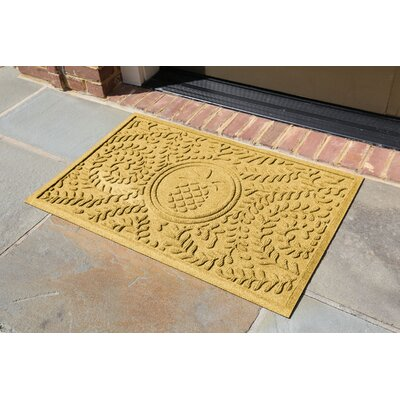Conway Boxwood Pineapple Doormat Color: Yellow