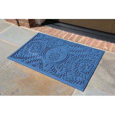 Conway Boxwood Pineapple Doormat Color: Medium Blue