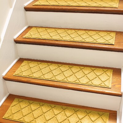 Aqua Shield Yellow Argyle Stair Tread