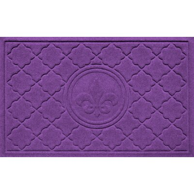 Aqua Shield Bombay Fleur de Lis Doormat Color: Purple
