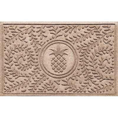 Aqua Shield Boxwood Pineapple Doormat Color: Medium Brown