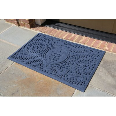 Conway Boxwood Pineapple Doormat Color: Navy