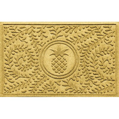 Aqua Shield Boxwood Pineapple Doormat Color: Yellow