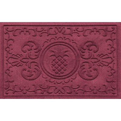 Aqua Shield Baroque Pineapple Doormat Color: Bordeaux