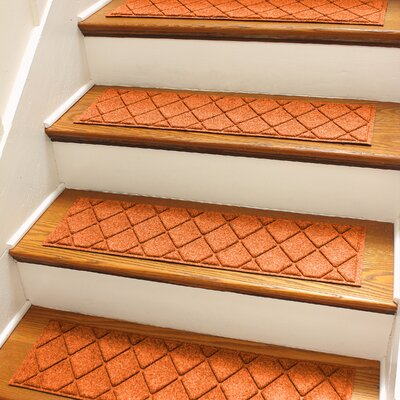 Aqua Shield Orange Argyle Stair Tread