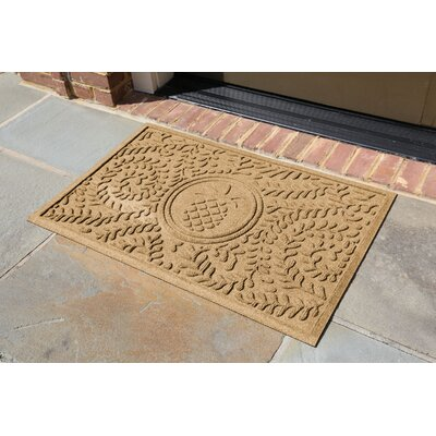 Conway Boxwood Pineapple Doormat Color: Gold