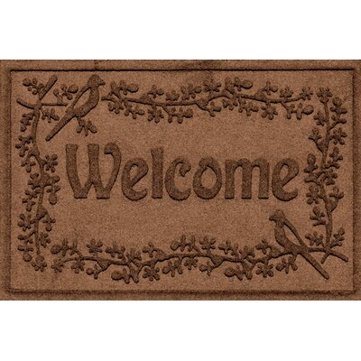 Aqua Shield Bird on a Branch Welcome Doormat Color: Dark Brown