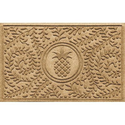 Aqua Shield Boxwood Pineapple Doormat Color: Gold