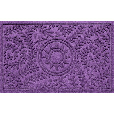 Conway Boxwood Sun Doormat Color: Purple