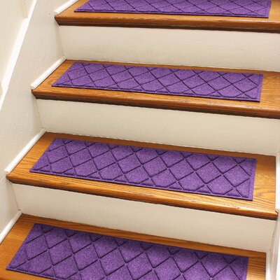 Aqua Shield Purple Argyle Stair Tread