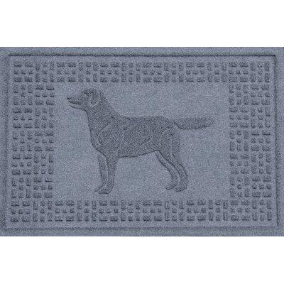 Aqua Shield Labrador Retriever Doormat Color: Bluestone