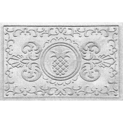 Aqua Shield Baroque Pineapple Doormat Color: White