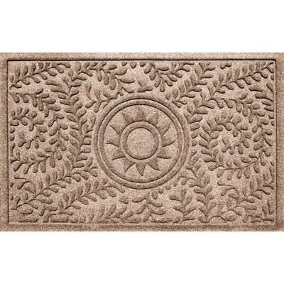 Aqua Shield Boxwood Ships Wheel Doormat Color: Medium Brown