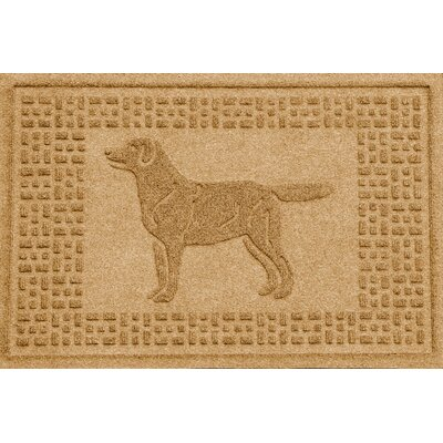 Conway Labrador Retriever Doormat Color: Gold