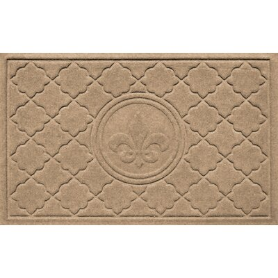 Aqua Shield Bombay Fleur de Lis Doormat Color: Camel