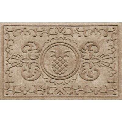 Aqua Shield Baroque Pineapple Doormat Color: Camel