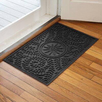 Aqua Shield Boxwood Flower Doormat Color: Charcoal