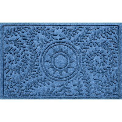 Aqua Shield Boxwood Sun Doormat Color: Medium Blue