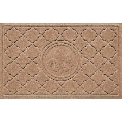 Aqua Shield Bombay Fleur de Lis Doormat Color: Medium Brown