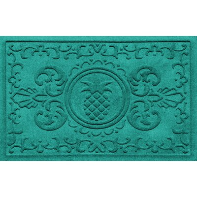 Aqua Shield Baroque Pineapple Doormat Color: Aquamarine
