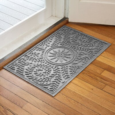 Aqua Shield Boxwood Flower Doormat Color: Medium Gray