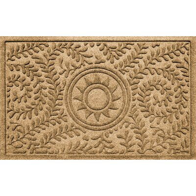 Conway Boxwood Sun Doormat Color: Gold