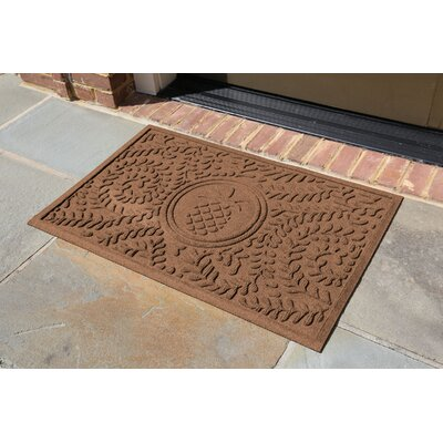 Conway Boxwood Pineapple Doormat Color: Dark Brown