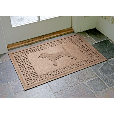Aqua Shield Beagle Doormat Color: Medium Brown