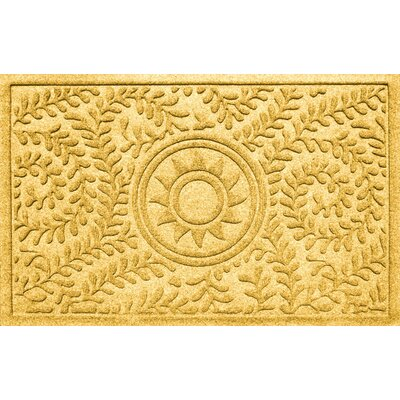 Conway Boxwood Sun Doormat Color: Yellow