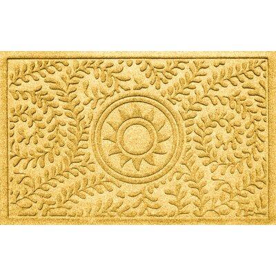 Aqua Shield Boxwood Sun Doormat Color: Yellow