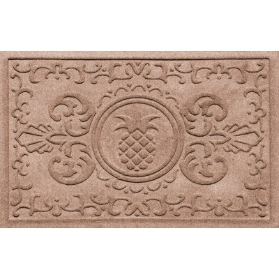 Aqua Shield Baroque Pineapple Doormat Color: Medium Brown
