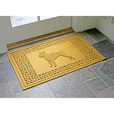 Conway Boston Terrier Doormat Color: Yellow