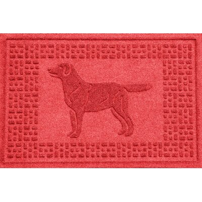 Aqua Shield Labrador Retriever Doormat Color: Solid Red