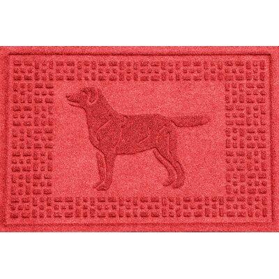 Conway Labrador Retriever Doormat Color: Solid Red