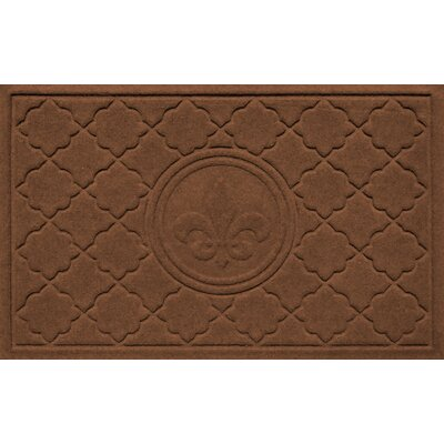 Aqua Shield Bombay Fleur de Lis Doormat Color: Dark Brown