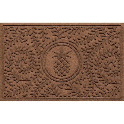 Aqua Shield Boxwood Pineapple Doormat Color: Dark Brown