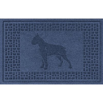 Aqua Shield Boxer Doormat Color: Navy