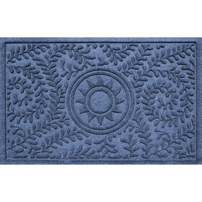 Conway Boxwood Sun Doormat Color: Navy