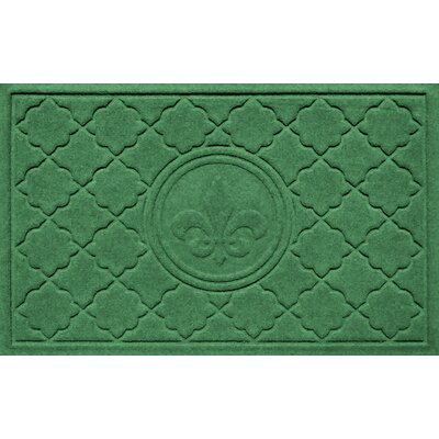 Aqua Shield Bombay Fleur de Lis Doormat Color: Light Green