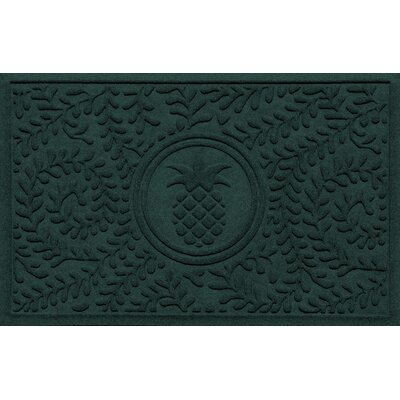 Aqua Shield Boxwood Pineapple Doormat Color: Evergreen