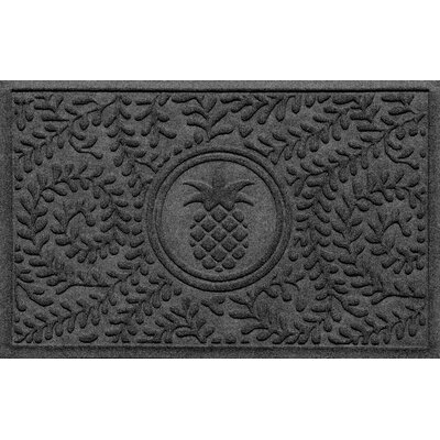 Aqua Shield Boxwood Pineapple Doormat Color: Charcoal