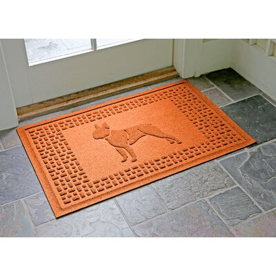 Conway Boston Terrier Doormat Color: Orange