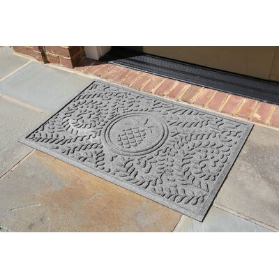 Conway Boxwood Pineapple Doormat Color: Medium Gray