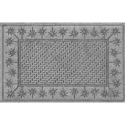 Aqua Shield Island Palms Doormat Color: Medium Gray