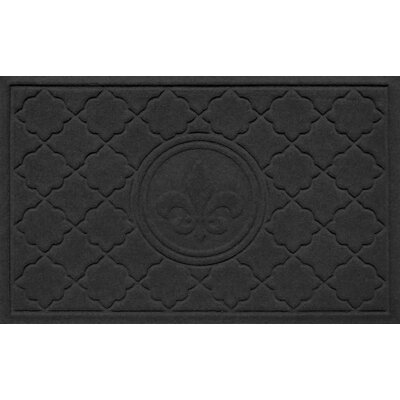 Aqua Shield Bombay Fleur de Lis Doormat Color: Charcoal
