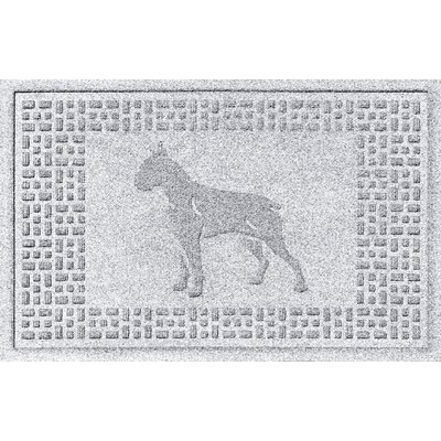 Aqua Shield Boxer Doormat Color: White