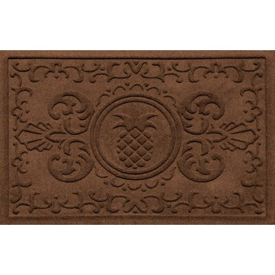 Aqua Shield Baroque Pineapple Doormat Color: Dark Brown